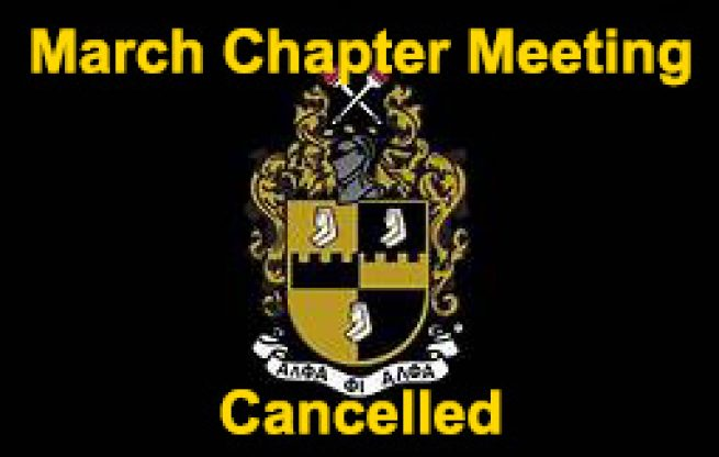 March Chapter Meeting Cancelled